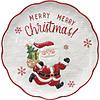Piatto da portata Babbo Natale Holly Jolly Xmas cm 30