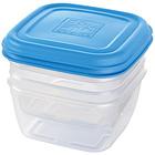 Set 2 contenitori ermetici quadrati 0,5 litri