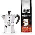 Caffettiera Moka Express + Caffè macinato 200 grammi