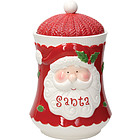 Biscottiera Babbo Natale Holly Jolly Xmas