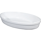 Pirofila ovale in porcellana bianca liscia