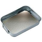 Teglia da forno alta in acciaio inox con fondo zigrinato