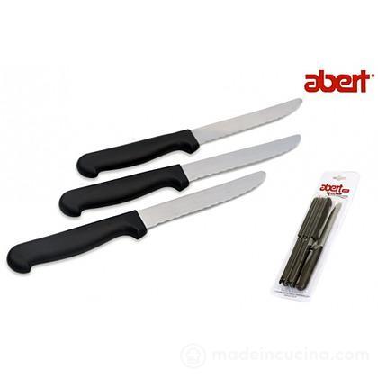 Set 6 coltelli da bistecca punta tonda