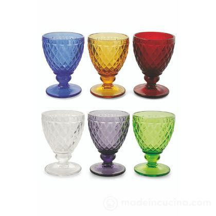 Set 6 calici acqua colorati Imperial