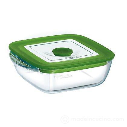 Contenitore Pyrex 4 in 1 quadrato 0,3 litri con coperchio per microonde