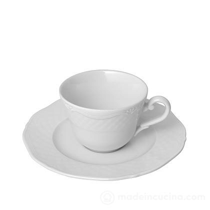 Set 6 tazzine da caffè con piattino Arianna