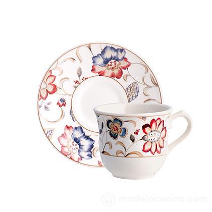 Set 6 tazze da tè con piattino Jacobean