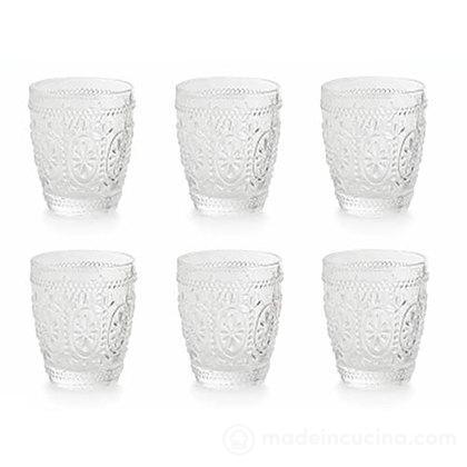 Set 6 bicchieri acqua trasparenti Imperial