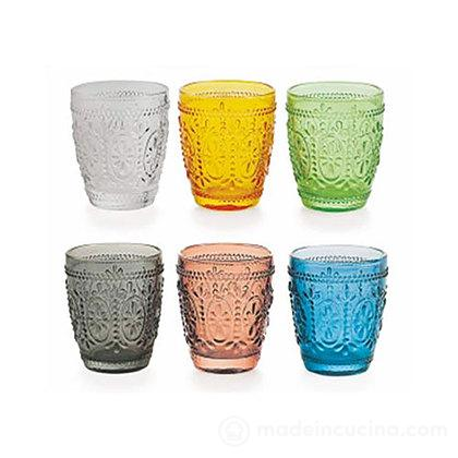 Set 6 bicchieri acqua colorati Imperial