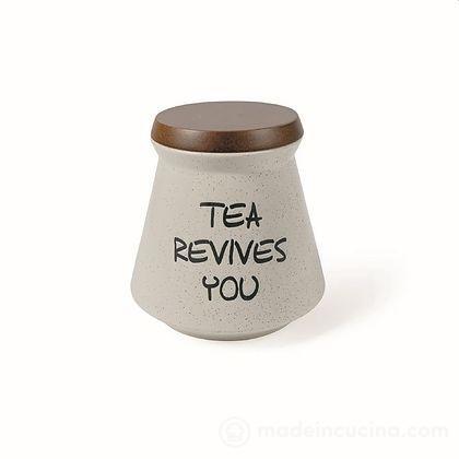 Barattolo tè in gres con coperchio in bambù Useful