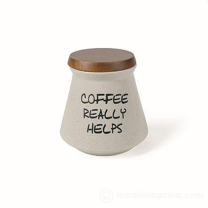 Barattolo caffè in gres con coperchio in bambù Useful