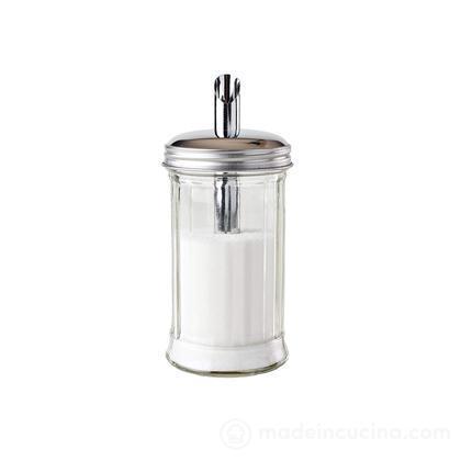 Dosa zucchero in vetro e acciaio