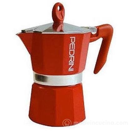 Caffettiera Aroma Color 3 tazze rossa