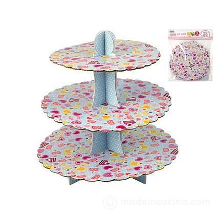 Alzata per torta 3 piani in cartone dolci - Senza marchio ...