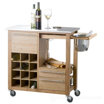 Carrello con cantinetta Accidia Home