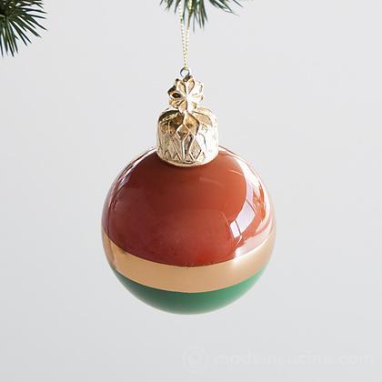 Set 6 palle Modern per albero di Natale (colori assortiti)