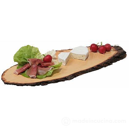Tagliere ovale corteccia in legno di ontano