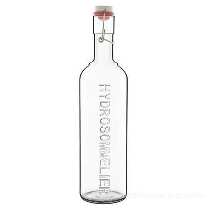 Bottiglia in vetro trasparente Hydrosommelier con tappo