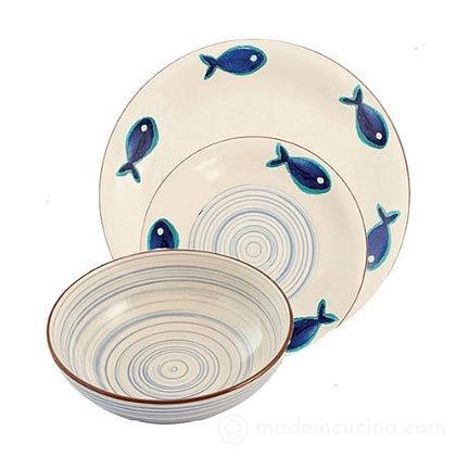 Servizio piatti 18 pz Fish - Villa D\'Este Home Tivoli | madeincucina.com
