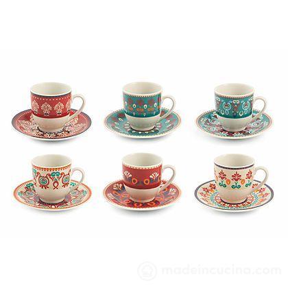 Set 6 tazzine da caffè con piattino Shiraz