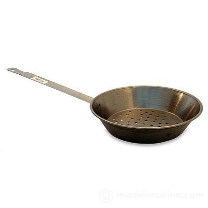 Padella castagne con manico in ferro