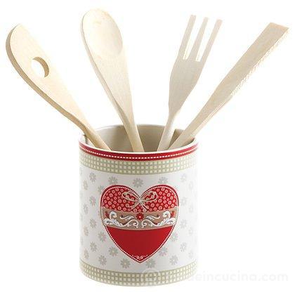 Set mestoli con contenitore dolce casa country love for Set mestoli cucina