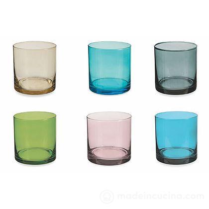 Set 6 bicchieri acqua colorati Cromia
