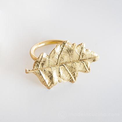 Lega tovagliolo dorato foglia di quercia