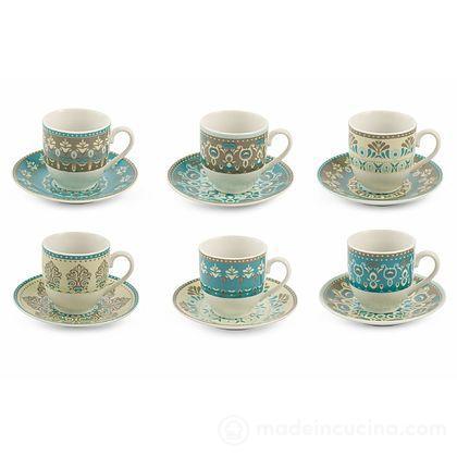 Set 6 tazzine da caffè con piattino Cala Jondal