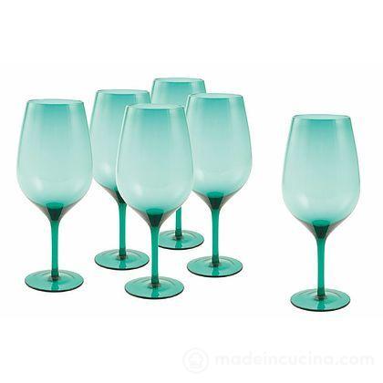 Set 6 calici Happy Hour acquamarina