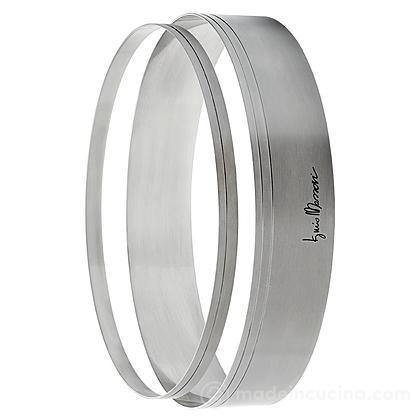Set 2 anelli torta acciaio inox Iginio Massari
