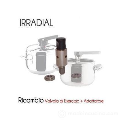 Valvola di esercizio per pentola a pressione Irradial con adattatore
