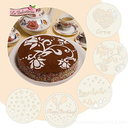 Set 5 decoratori stancil per torte