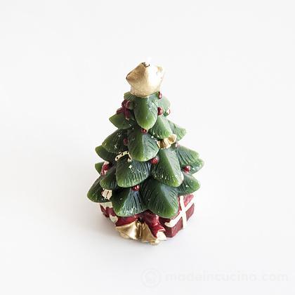 Candela segnaposto pino decorato