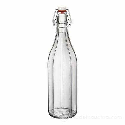 Bottiglia in vetro oxford con tappo meccanico colorato bormioli rocco - Bottiglie vetro ikea ...
