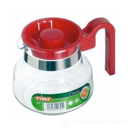 Bricco Pyrex con coperchio rosso litri 1,25