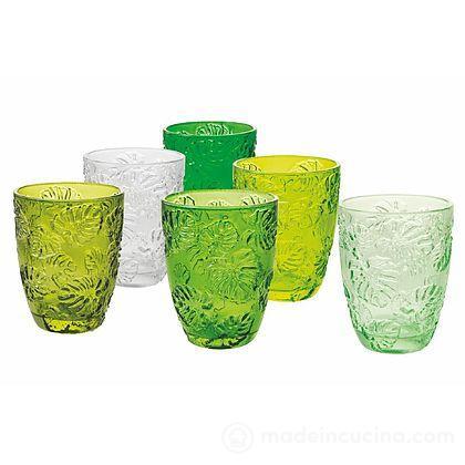 Set 6 bicchieri acqua colorati Jungle
