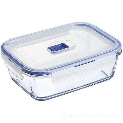 Contenitore rettangolare in vetro Pure Box con valvola Active 1,97 l