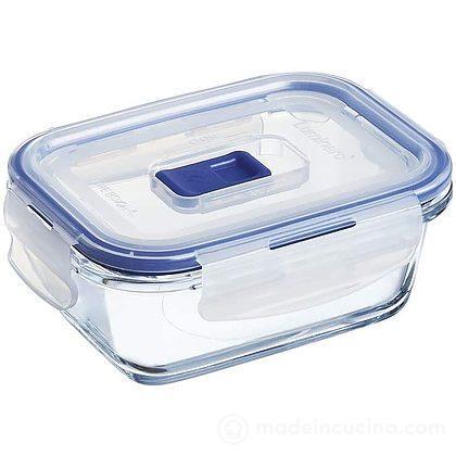 Contenitore rettangolare in vetro Pure Box con valvola Active 0,38 l