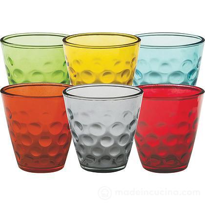Set 6 bicchieri colorati Bolle