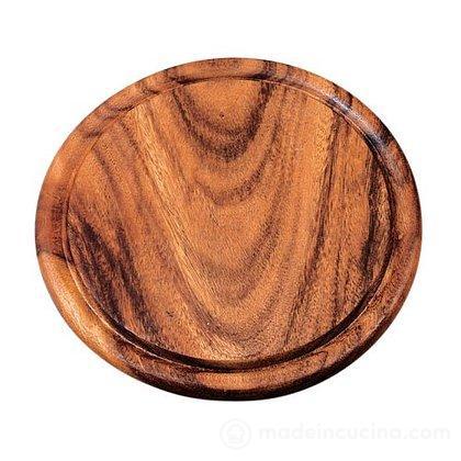 Tagliere rotondo in legno di acacia