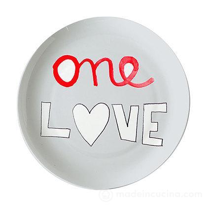 Piatto pizza One Love Sms