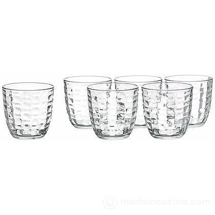 Set 6 bicchieri acqua trasparenti Mat