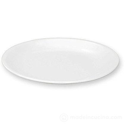 Piatto piano in melamina bianco