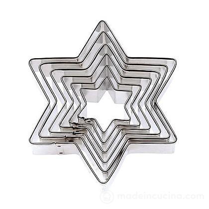 Set 6 tagliabiscotti stella in acciaio inox