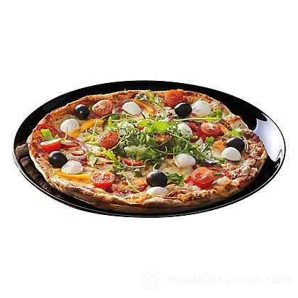Piatto pizza in vetro opale nero