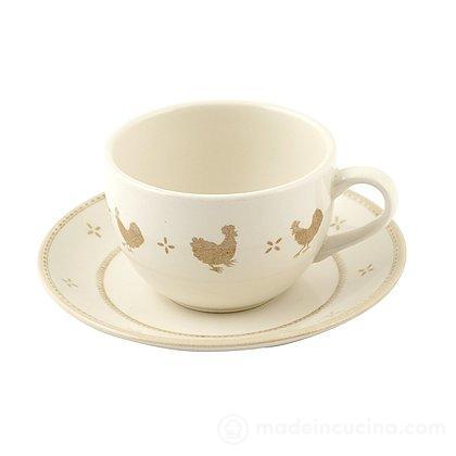 Set 6 tazze da tè con piattino Petit Poule