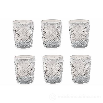 Set 6 bicchieri acqua trasparenti Marrakech