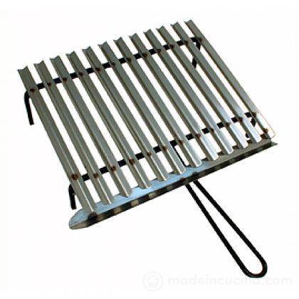 Graticola in acciaio inox con sistema di recupero grassi