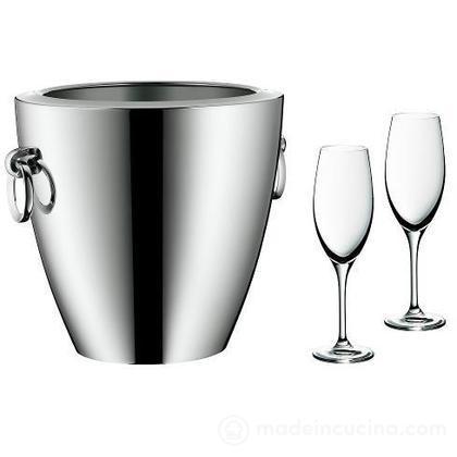 Set secchiello champagne Jette con 2 calici